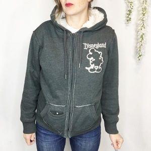 DISNEYLAND Mickey Mouse hoodie faux fur lined